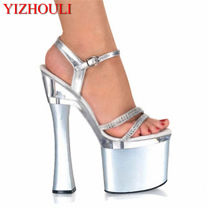Ultra high with sexy womens shoes Nightclub 18 cm thick with sandals manufacturers selling big yards of shoesUltra high with sexy womens shoes Nightclub 18 cm thick with sandals manufacturers selling big yards of shoes
