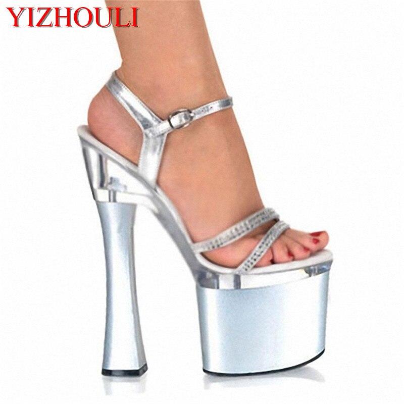 169bee958e5e9 Ultra wysokiej z sexy kobiet buty Klub Nocny 18 cm grube sandały producenci  sprzedają duże jardów buty