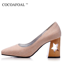 COCOAFOAL Woman Pink Wedding Pumps Plus Size 32 48 Sexy High Heels Shoes Square Toe Gray