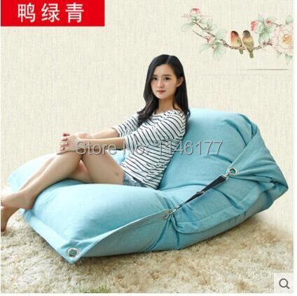 ФОТО  Ducks Greenish Beanbag beanbag chair folding simple cotton Double beanbag sofa bed tatami bed computer Ywxuege no filler