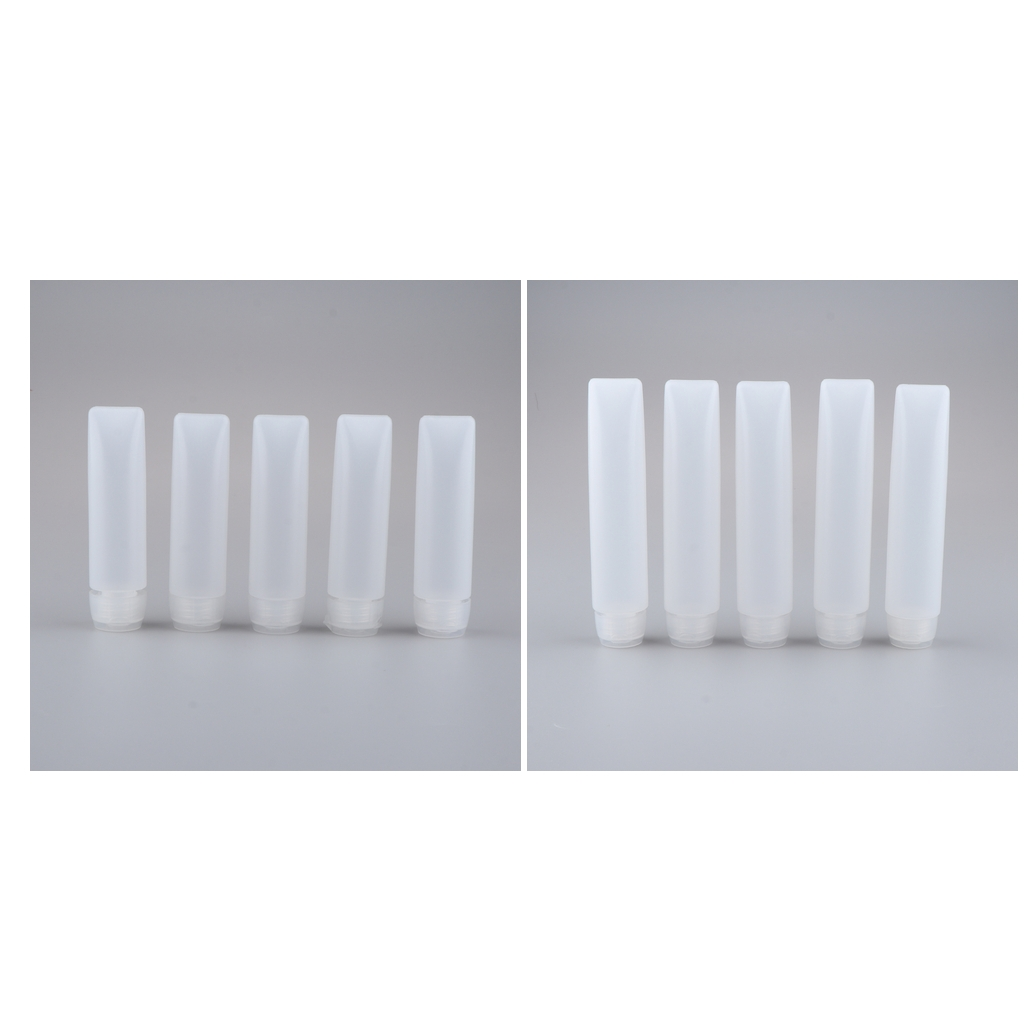 10pcs Empty Refillable Tubes Bottle Sample Containers For Shampoo Cleanser Shower Gel Body Lotion Refill for Travel