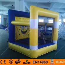 Free shipping Sponge bob inflatable mini bouncer playground with free CE/UL blower