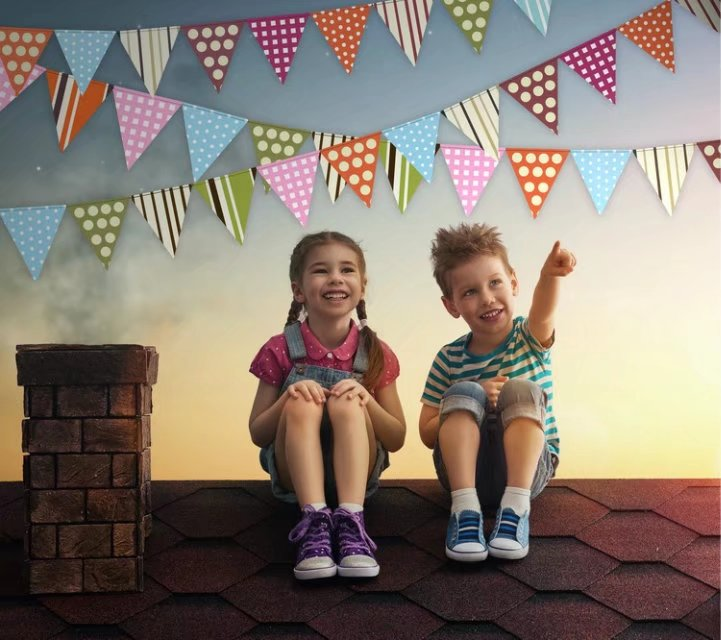 Photography Backdrop Brick Roof 5x7 Newborn Rainbow Flags on Top Custom Background Backdrops fundo fotografico para estudio 300cm 200cm about 10ft 6 5ft fundo harp moonlight candles3d baby photography backdrop background lk 1859