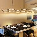 Minimalismo Moderno LEVOU Lustre Pendente Para Sala de Jantar Cozinha Bar AC85-265V De Alumínio Pendurados Pingente Lâmpada Lustre Luminárias