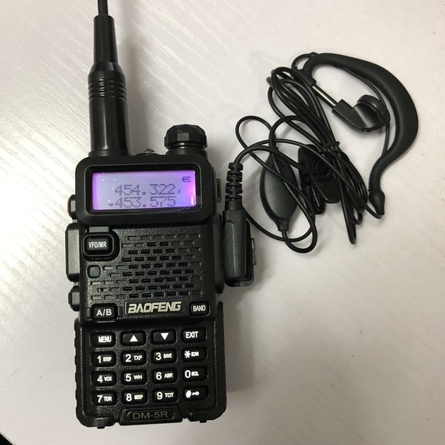 baofeng dm 5r walkie talkie DMR Radio VHF UHF 136 174MHz 400 480MHz TK port 2000mAh battery DMR two wayr adio fro hunting 10 KM