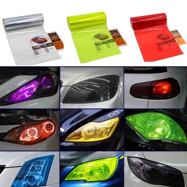 40 150cm Auto Car Smoke Fog Light Headlight Taillight Tint Vinyl Film Sheet Sticker Waterproof Car
