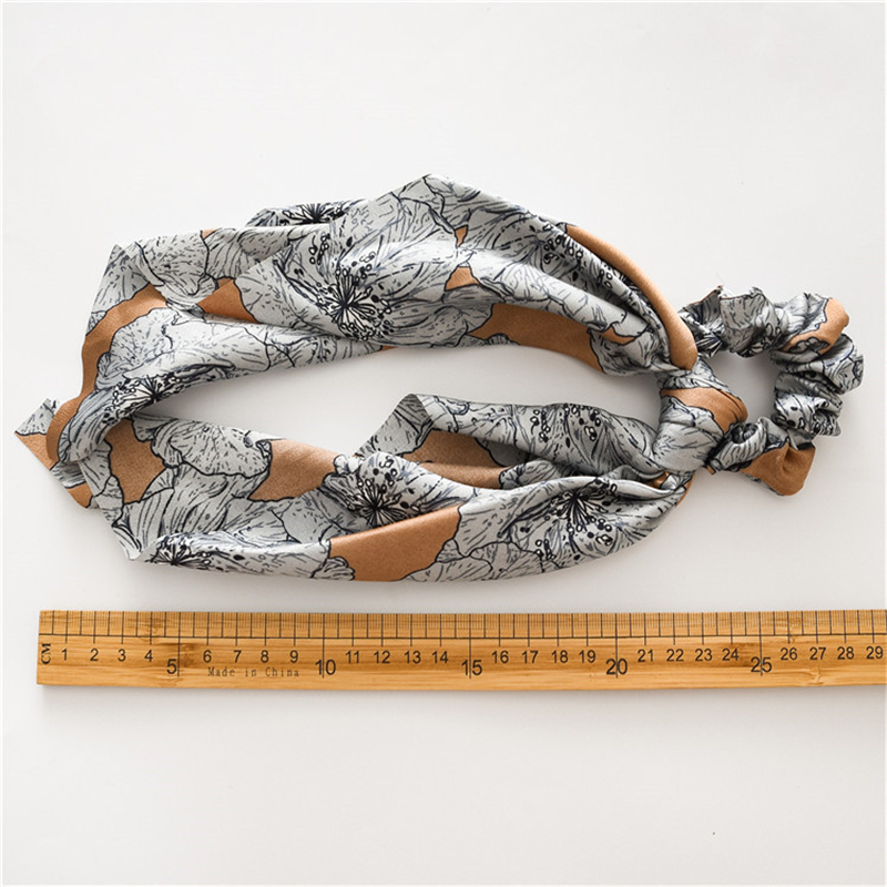 HTB109OdXkH0gK0jSZFNq6xMqXXaX - 2 in 1 vintage Floral Print Hair Band For Women Scrunchies Hair Scarf Horsetail Girls Hair Ties Headband Hair Jewelry