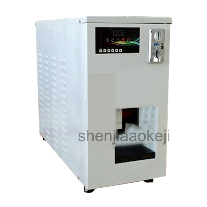 Automatic Commercial stainless steel soft ice cream vending machine Smart coin system air-cooling ice cream maker 1pc цена