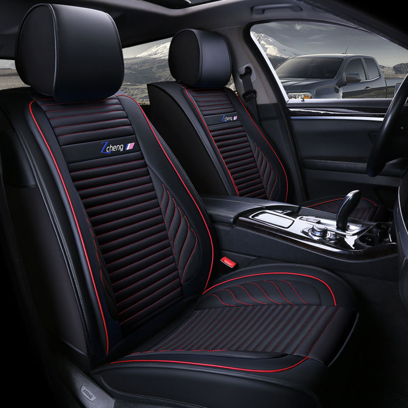 PU Leather Universal Car Seat Cover auto Seats Covers for cadillac ats sls ct5 ct6 escalade honda hrv XRV XR-V URV UR-V crossfit