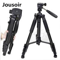 Q111 Professional Aluminium Tripod Camera Accessories Stand with Pan Head for Dslr CD50