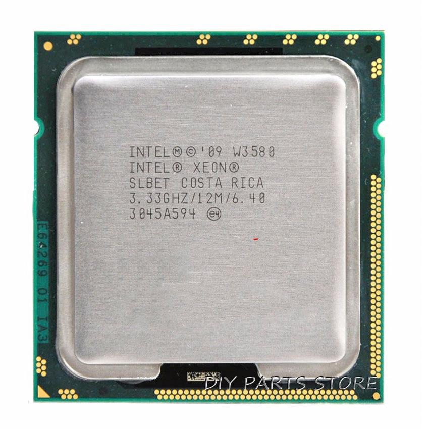 INTEL XONE W3580 Quad core 3.33 mhz LeveL2 8 m 4 core Turbo Fréquence 3600 TRAVAIL POUR lga 1366 montherboard
