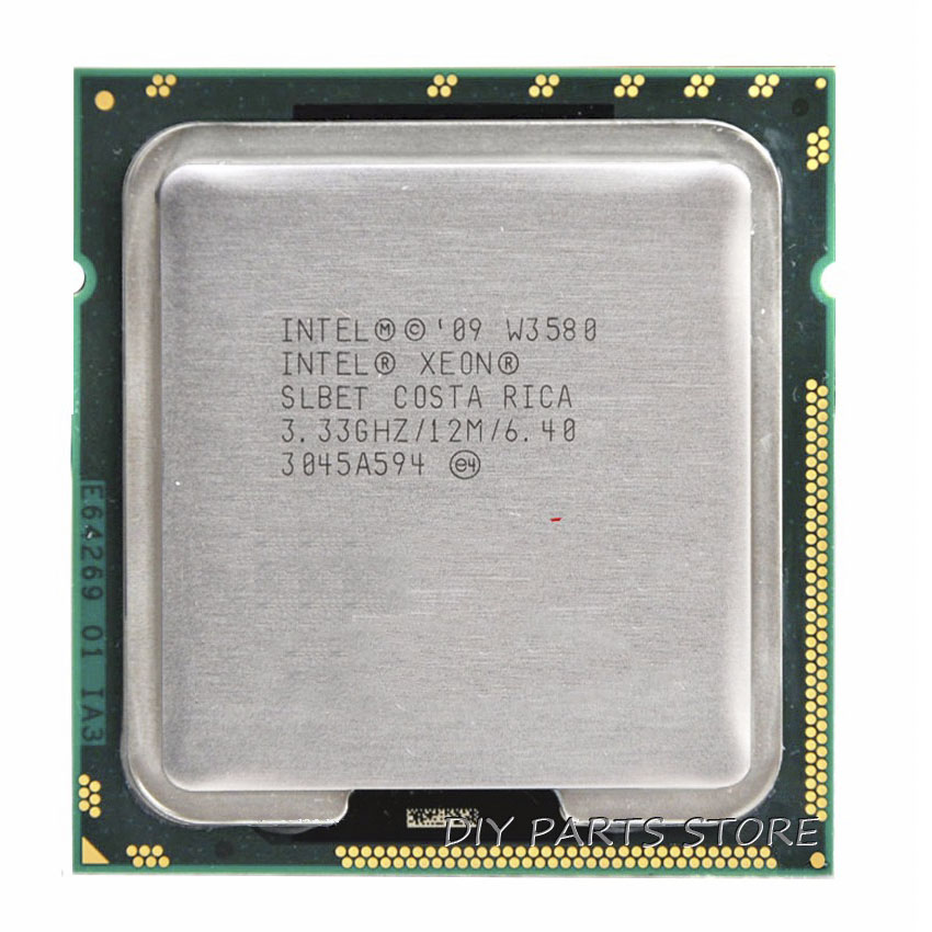 INTEL XONE W3580 Quad Core 3.33 MHZ  LeveL2  8M  4 Core  Turbo Frequency  3600 WORK  FOR Lga 1366 Montherboard