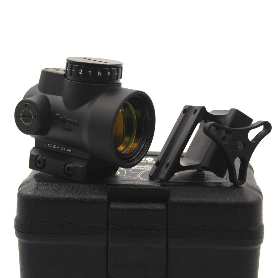 Hunting scope MRO Style Red Dot Sight Holographic Sight Low Mount + Hight Mount fit picatinny rail tactical trijicon mro style 1x red dot sight scope for high and low picatinny rail mount base hunting shooting m9159