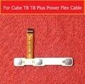 100% original interruptor de encendido botón de Volumen Power Flex cable Para CUBO T8 T8 MÁS U78A conductora reemplazo flex + Etiqueta Engomada Del pegamento
