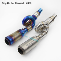 Slip On For Kawasaki Z800 Motorcycle Modified Exhaust Muffler Escape With Connect Pipe Middle Link Mid