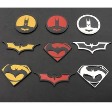 3D Car Stickers Cool Metal Bat Auto Styling Batman Badge Emblem Tail Decal Motorcycle Accessories