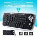 FN-717 3 en 1 2.4G Ratón Teclado Inalámbrico Smart TV con Control Remoto con Receptor Inalámbrico USB para PC