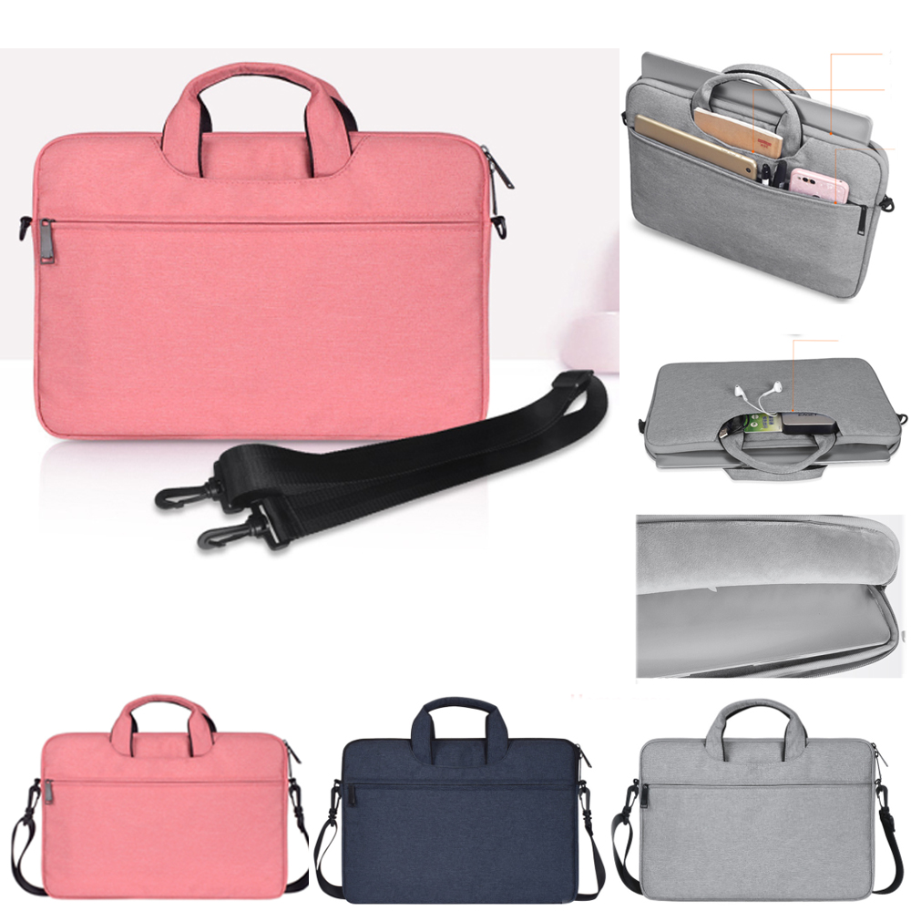 13 14 15.4 15.6 Inch Shoulder Handbag Computer Bags Waterproof Messenger Women Men Notebook Bag Case for Dell HP Macbook Xiaomi Price $24.69