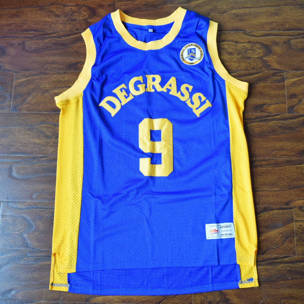 1b0fd299d9ac MM MASMIG Drake  9 Degrassi Basketball Jersey Stitched Blue-in ...