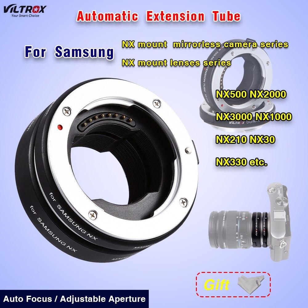 Macro Lentille Adaptateur Viltrox DG-NX Automatique Extension Tube Mise Au Point Automatique Pour Samsung NX500 NX2000 NX3000 NX1000 NX210 Macro Lentille