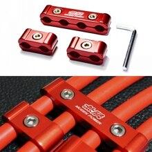 6 шт. красный алюминиевый Заготовка Провода Сепаратор Комплект Для MUGEN POWER Honda INTEGRA S2000 Accord