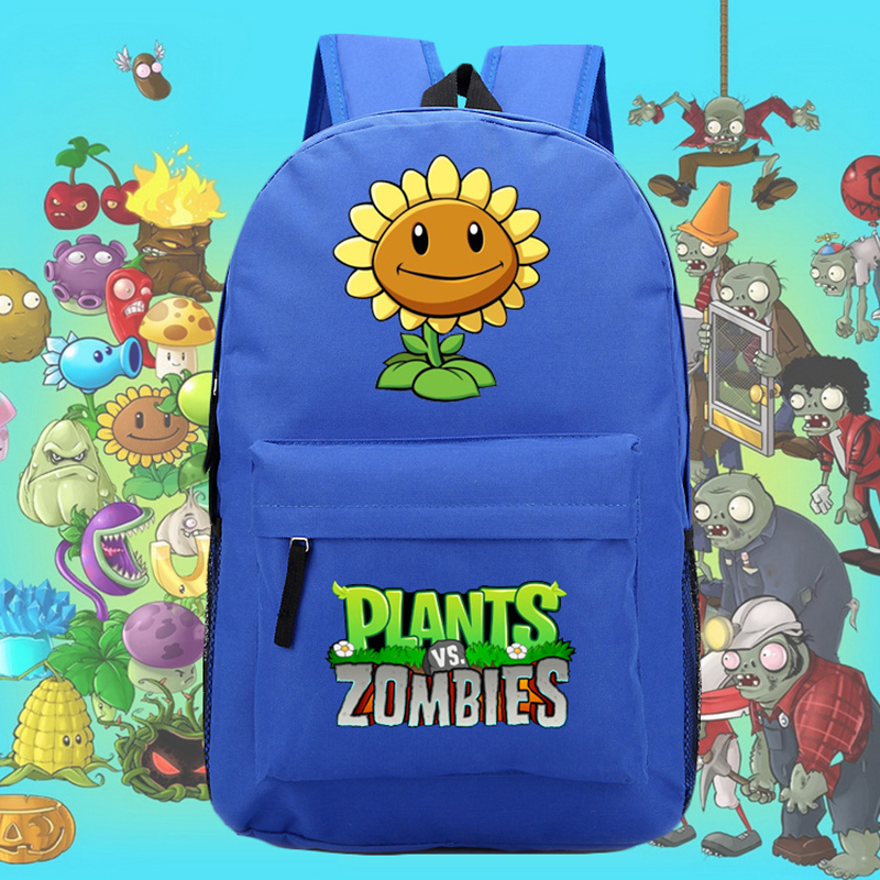 2017 New Game Funny Plants vs Zombies Luminous Printing Mochila Canvas font b laptop b font