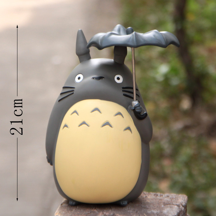 20cm Anime Cartoon Totoro Umbrella Action Figures PVC brinquedos Collection Figures toys for christmas gift free shipping hot sale 26cm anime shanks one piece action figures anime pvc brinquedos collection figures toys with retail box free shipping