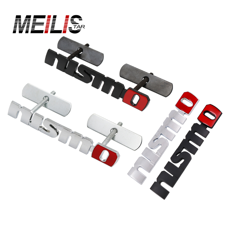 Chrome NISMO Auto Car Stickers Badge Emblem Car Styling For Nissan Tiida Teana Skyline Juke X-trail Almera Qashqai Accessories fr metal car stickers emblem badge for seat leon fr cupra ibiza altea exeo formula racing car accessories car styling