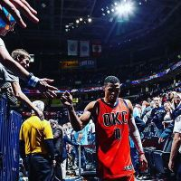 Russell Westbrook OKLAHOMA CITY THUNDER OKC Basketball NBA Art Print Silk Poste Wall 12x18 24x36 24x48