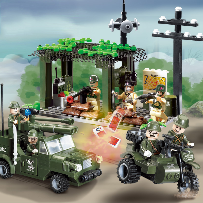 Model Building World War 2 Ww2 Truck Soldier Military Swat Army Model Building Blocks Figures Set Toys For Children Compatible With Lego Cheap Sales 50%