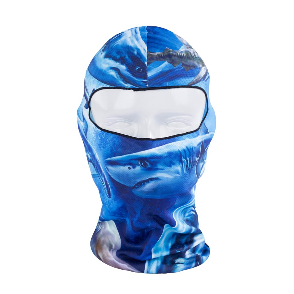 2016 Hot Sale 3d Oceanic Sharks Active Outdoor Sports Bicycle Cycling Motorcycle Masks Ski Hood Hat Balaclava Full Face Mask недорого