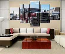 HD Printed 5 Pieces Canvas Painting Peterbilt car Wall Art Picture Home Decoration Living Room