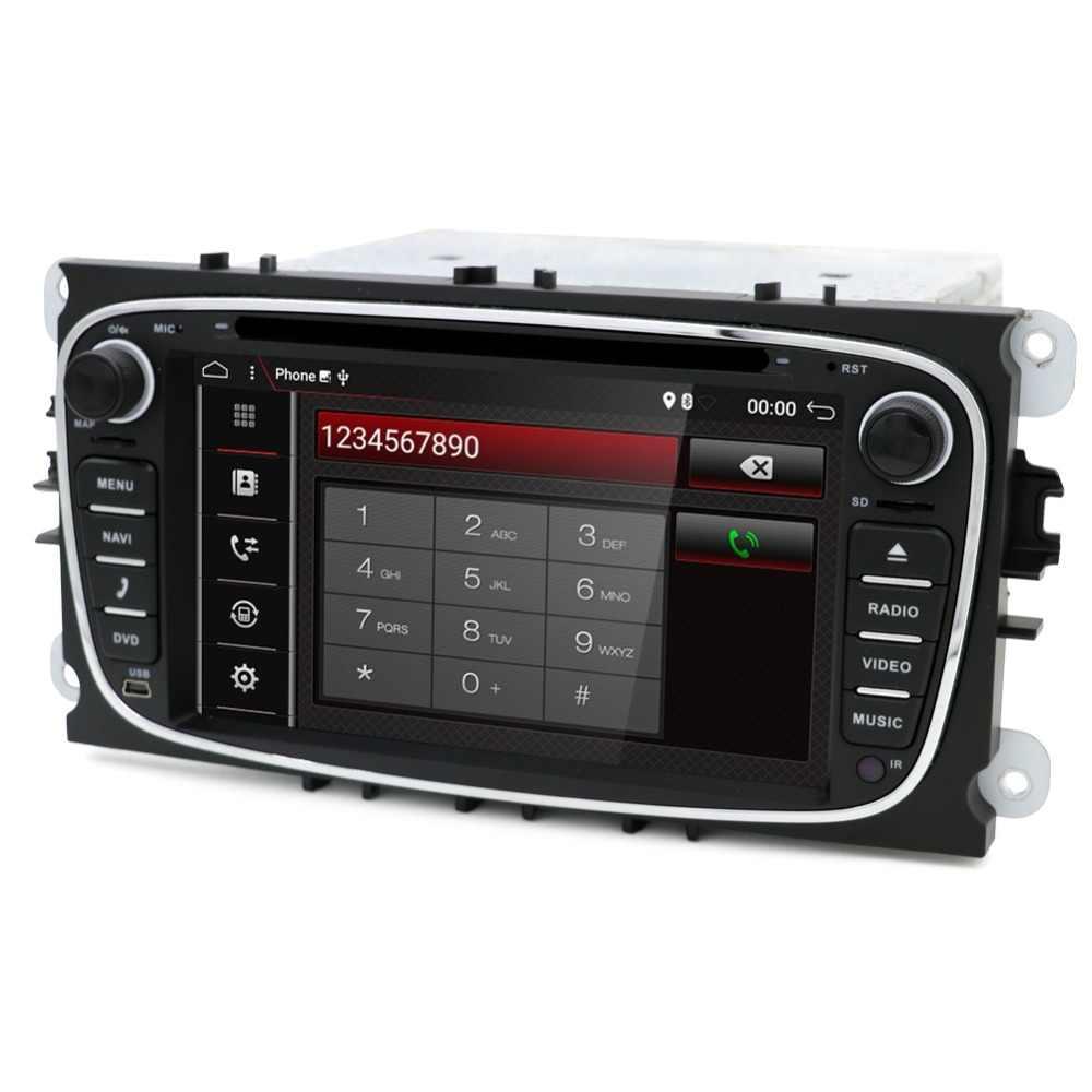 Восьмиядерный Android 8,1 автомобильный DVD gps 2 Din для FORD/Focus/S-MAX/Mondeo/C-MAX/Galaxy/Kuga мультимедийный плеер Wifi автомобильный Радио Видео OBD