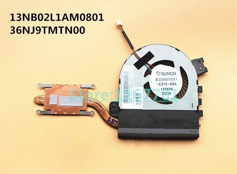 Nouveau ordinateur portable/ordinateur portable CPU refroidissement radiateur et ventilateur pour Asus PU401 PU401L 13NB02L1AM0801 36NJ9TMTN00 EG50050S1-C310-S9A