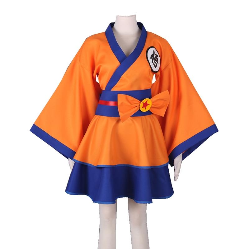 Anime Dragon Ball Z Cosplay Costumes Gokuu Son Women Lolita Cosplay Dress Halloween Carnival Party Girl Kakarotto Cosplay