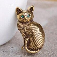 Мило vivid горный хрусталь кошка vitnage броши для женщин человек египет животных broches хиджаб аксессуары дешевой цене женщины броши