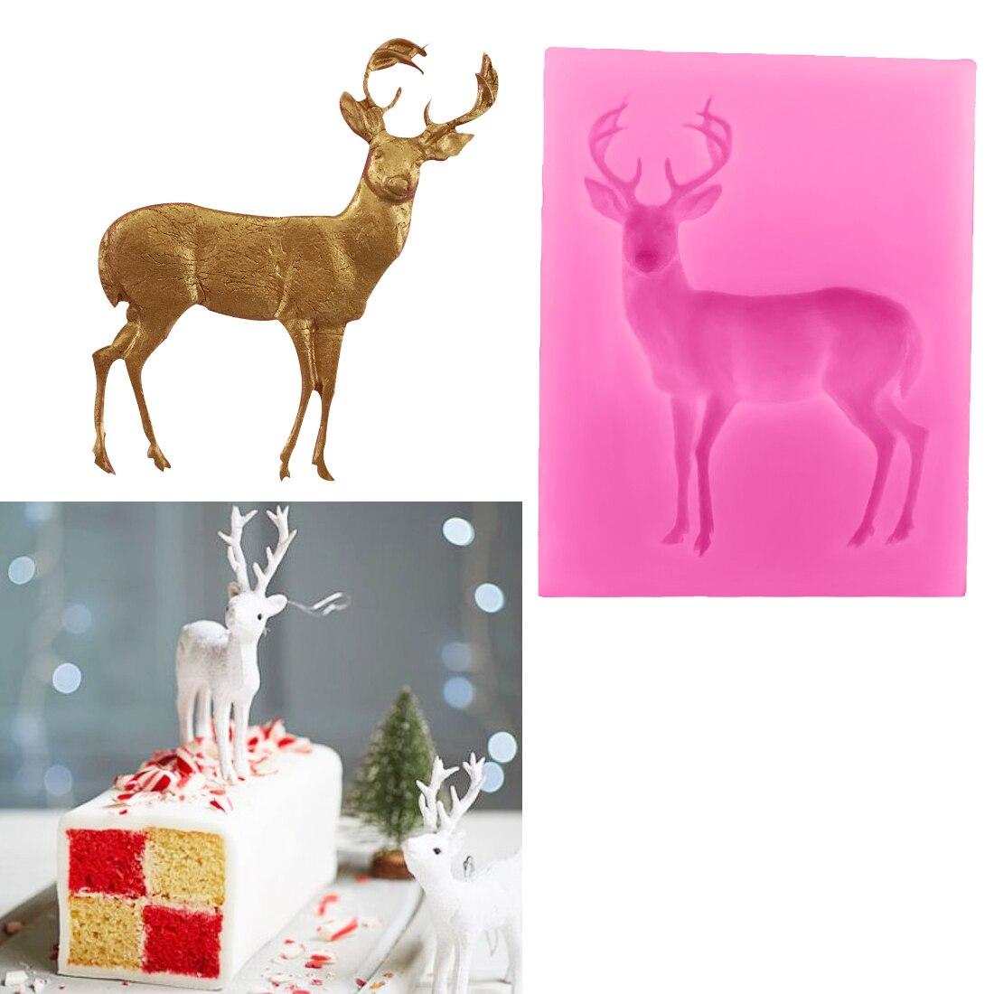 1 Stück Hirsch Silikonform Weihnachten Diy Harz Dekorative Handwerk Silikonform