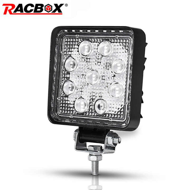 4 Inch 27W 4D Square LED Work Light DRL 6000K Fog beam for Car off road Boat Tractor 4x4 niva ATV MPV UAZ spotlight Driving Lamp