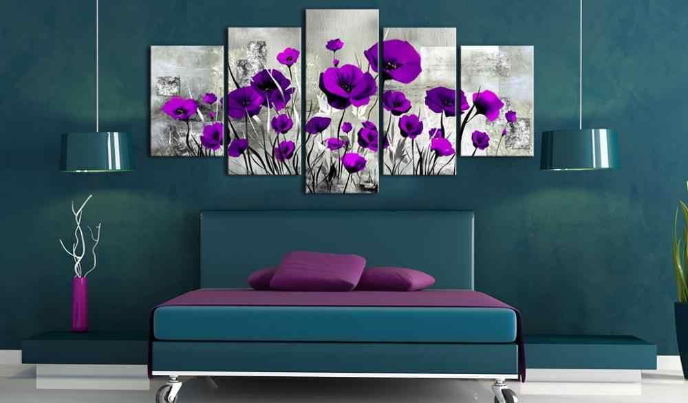 5 Buah/Set Bunga Klasik Seri Gambar Cetak Lukisan Pada Kanvas Dinding Seni Dekorasi Rumah Ruang Tamu Kanvas Seni PJMT-B (227)