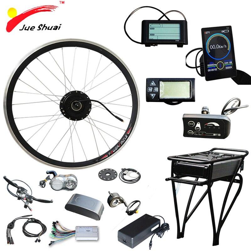 36 V 250 W 350 W 500 W vélo électrique Vélo Kit roue avant Moteur 36 V 12AH Batterie Ebike E vélo conversion Kit elektrikli bisiklet