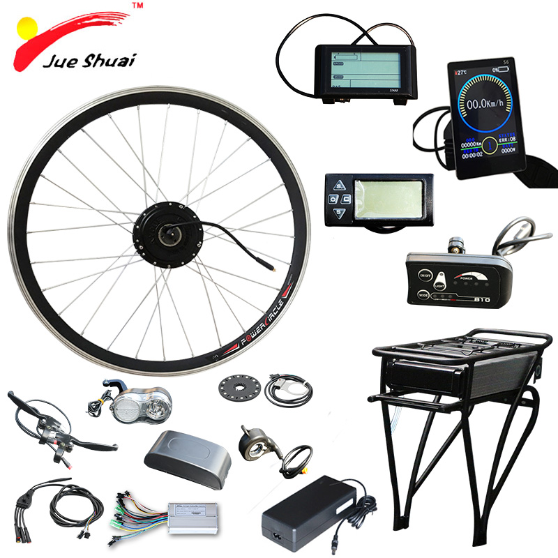 36V 250W 350W 500W Electric Bike Bicycle Kit Front Wheel Motor 36V 12AH Battery Ebike E bike Conversion Kit elektrikli bisiklet цена