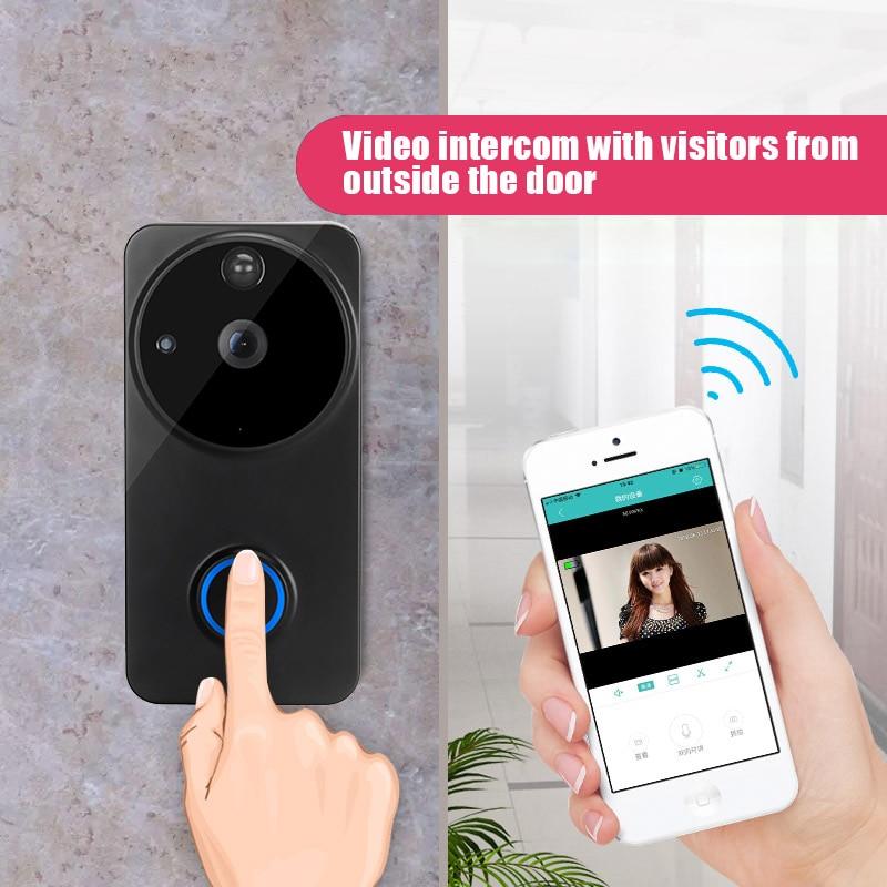 все цены на Smart Visual Doorbell Peephole Viewer Wifi PIR Night Vision Security Electronic Door Eye LCC77