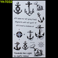 Sailor anchors Painted body art sticker Bracelet tattoo black tattoo flash tattoos large fake India spends temporary tattoo