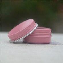 10 шт. Высокое качество 10 г розовый пустой алюминиевый горшок банки косметические контейнеры с крышкой крем для глаз Кондиционер для волос жестяная Косметика металл