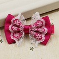 High-quality Baby Hair Accessories Children's Cute Lace Bowknot Hair Clips Baby Girl Hairpin Child Hair Bow Ribbon Headdress