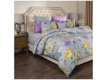 Комплект постельного белья полутораспальный SANTALINO, ЦВЕТЫ, серый