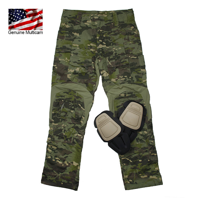 Genuine Multicam Tropic Tactical Military TMC <font><b>G3</b></font> <font><b>Combat</b></font> <font><b>Pants</b></font> NYCO Fabrics Original USA Size(SKU051195) image