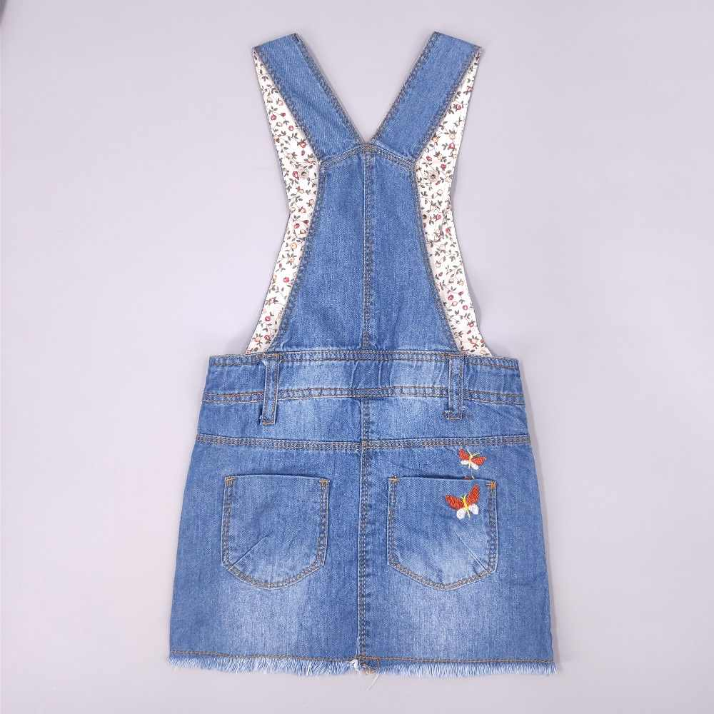 2-6T Girls Dress baby Girls Suspender Dresses Clothes Toddler Jeans Dress Summer Straps Denim Overalls Casual Kids Clothing