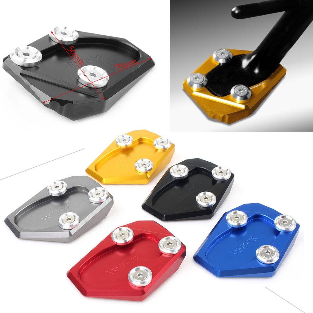 Have An Inquiring Mind For Yamaha Fz-1 Fz1 2006 2007 2008 2009 2010 2011 2012 2013 2014 2015 Cnc Kickstand Foot Side Stand Extension Pad Support Plate