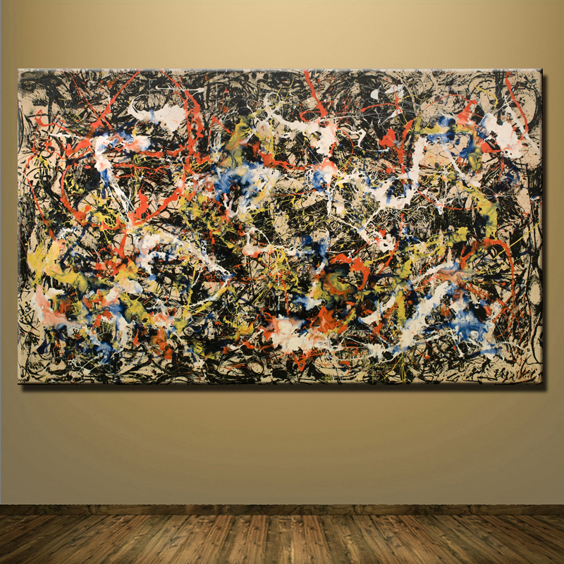 Online buy wholesale jackson pollock canvas from china for Cost of a mural